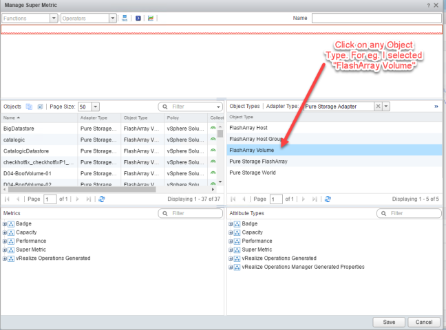 How to create super metric in vRealize Operations Manager