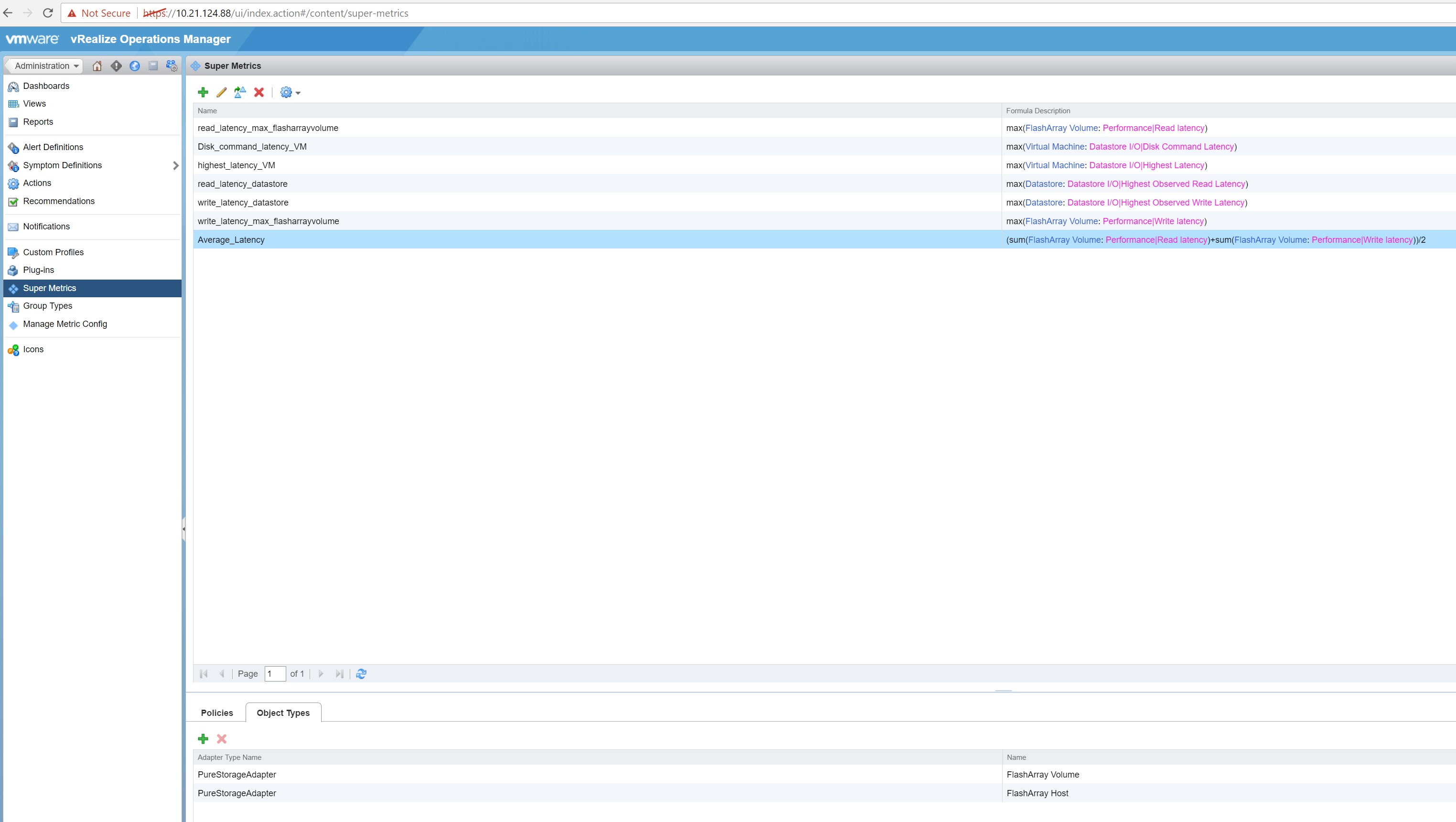 How to create super metric in vRealize Operations Manager – PureLLySUNNY